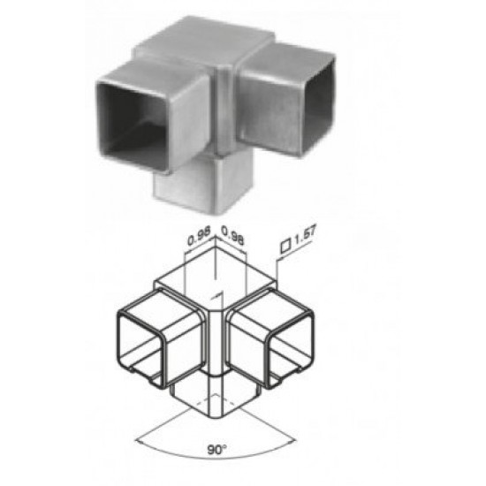 Curves and Fittings - Square Fittings - 13.4304.040