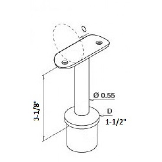 Rail Brackets - Stainless Steel Brackets - 14.0702.
