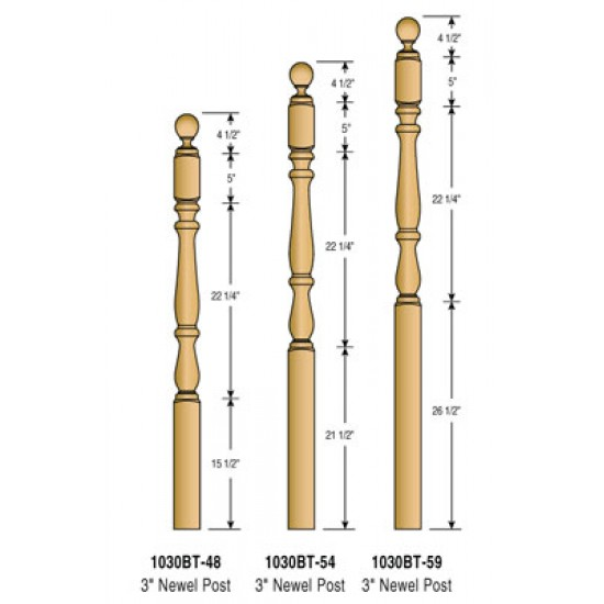 Newel Posts - Royal - 1030BT