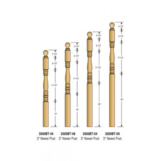 Newel Posts - Hampton - 3500BT