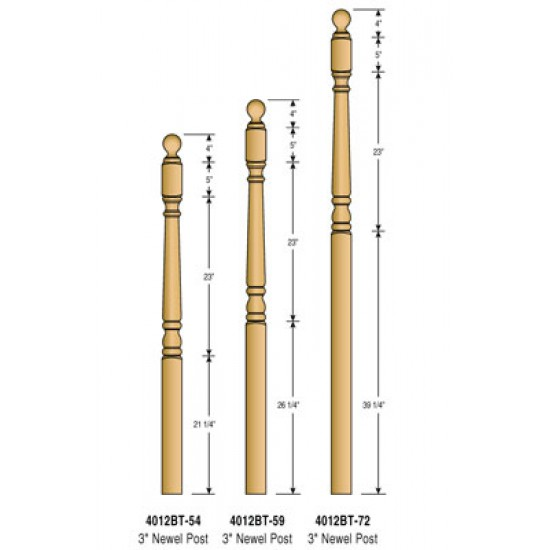 Newel Posts - Colonial - 4012BT