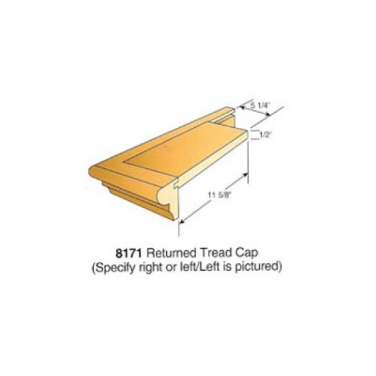 Wood Stair Parts - Treads & Risers - 8171-LH