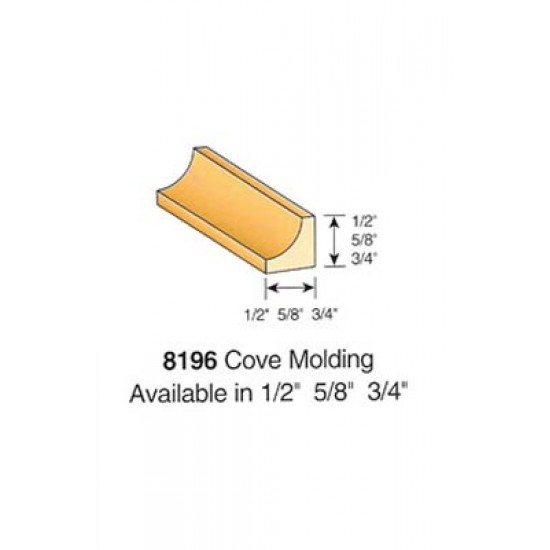 Wood Stair Parts - Treads & Risers - 8196 Cove Moulding
