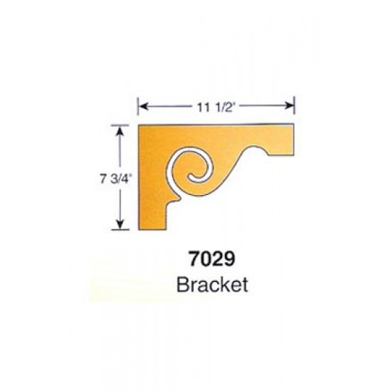 - Wood Stair Parts - 7029-TB Scrolled Tread Bracket