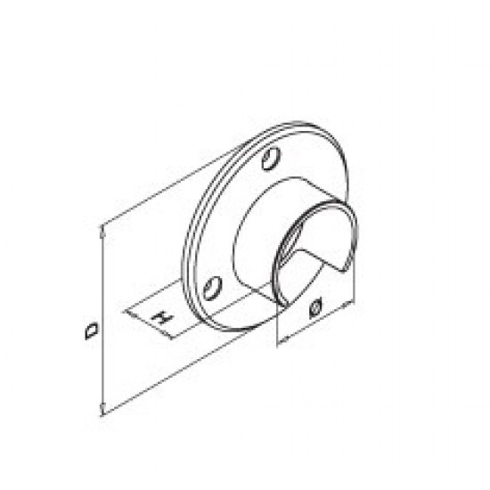 Anchorages - Handrail Wall Mounting - 13.6505.042