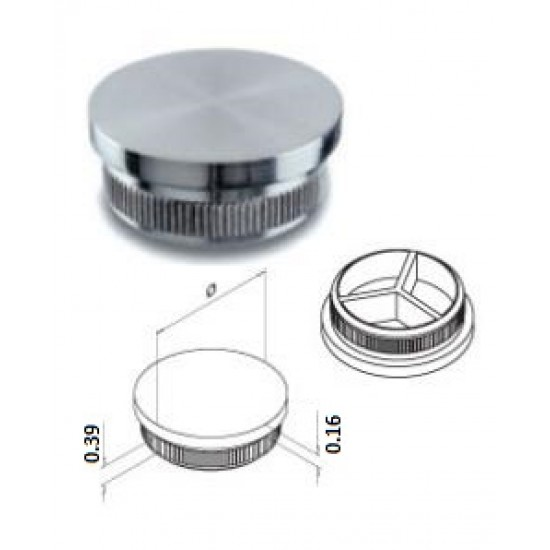 End Caps for Tube - 14.5732