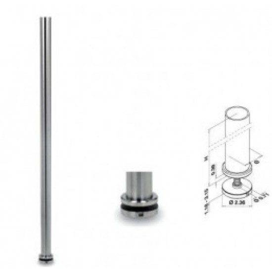 Glass and Cable Stair  Parts - Posts - 13.0544
