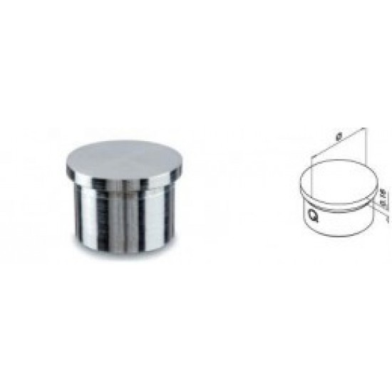 Glass and Cable Stair  Parts - End Caps for Tube - 13.0732