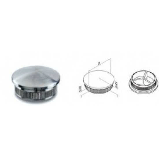 Glass and Cable Stair  Parts - End Caps for Tube - 13.5729