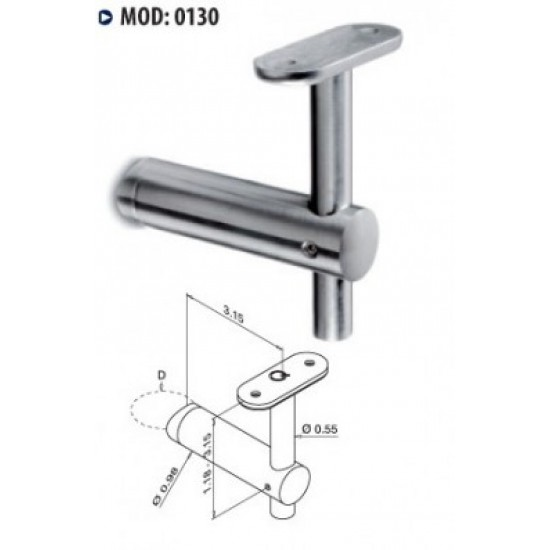 Rail Brackets - Stainless Steel Brackets - 13.0130.000